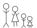 Sticker Figure Family